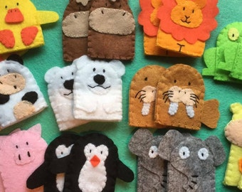 Assorted animal finger puppets (choose quantity)