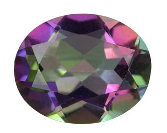 Mystic Northern Lights Topaz Oval Cut Loose Gemstone 1A Quality 10x8mm TGW 2.15 cts.