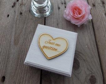 Ringbox 'Engagement' - wedding/proposal/rings/wedding decoration/wedding accessoires