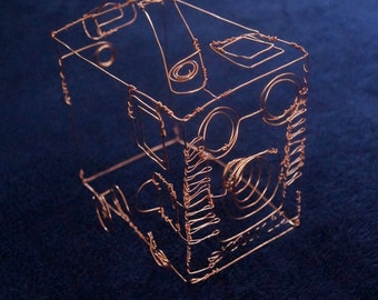 Wire Sculpture of an Old Box Brownie Camera