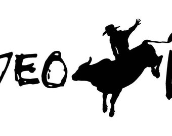 Rodeo Life Decal w/ Bull Rider