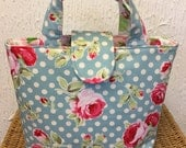 Floral and spot reversible tote  new for 2017