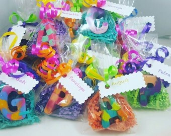 Letter Crayon Favors/Class favors/Name favors/End of year gifts