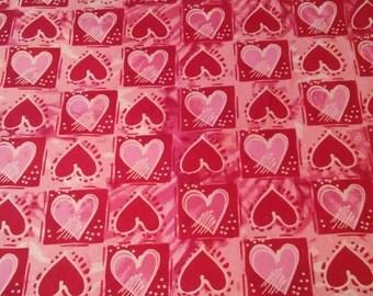 Valentine Fabric, Hearts/Sweetheart/Cupid/Love, XOXO, ApparelFabric, Novelty Fabric, QuiltingFabric, Craft/Diy/Sewing, Fabric Yard/Half Yard