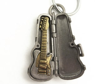 Electric Guitar Keychain - Tele style, musical instrument