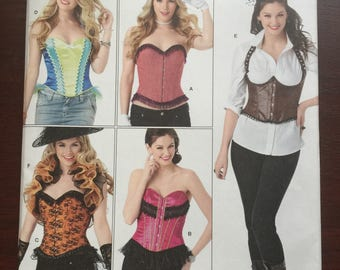 Simplicity Pattern #1345, Misses' Corsets and Ruffled Shrug, Sizes 6-14, New