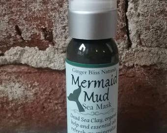 All Natural Mud Mask~ Mermaid Mud ~ Green Sea Mask. Detox. Clay. Minerals. Essential oils. Vitamin C & E. Kelp. Green Tea. Dead Sea Tea Tree