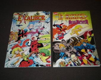 Excalibur The Sword is Drawn 1B, (1988) 1st App. Excalibur, and Mojo Mayhem 1, (1989), Marvel TP