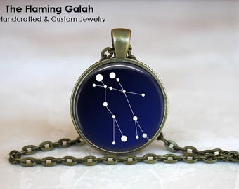 GEMINI CONSTELLATION Pendant • Gemini Zodiac • June Star Sign • Gemini Stars • Gift Under 20 • Made in Australia (P0967)