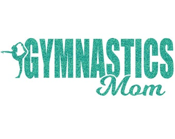 Gymnastics Mom Iron On Decal
