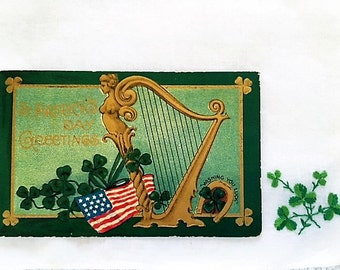 Antique 1911 Happy St. Patrick's Day Postcard - Chicago