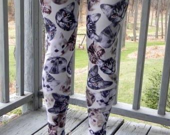 Misses Kitty Cat Spandex Leggings or Capri