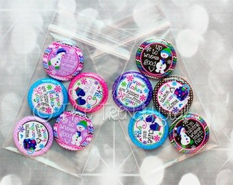 """Flat Back Buttons M2M  """"Cute & Cozy"""" Winter Collections - 5pc"""