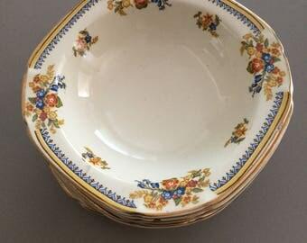 Ivory ware set of six dessert bowls c1930