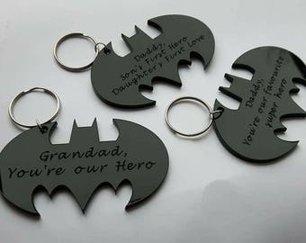Personalised Bat Keyring