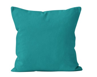 Teal Pillow Cover, Blue Green Pillow Cover, Teal Cushion Cover, Teal Throw Pillow Cover, Teal Pillow Sham, Vibrant Blue Pillow Covers