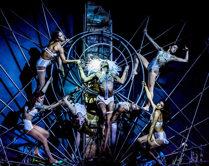 Featured listing image: House Of Yes, Aerial, Aerialists, Artists, Circus, Performers, Performance, Giclée Print, Archival, Photograph, Color, Glossy