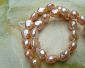 BREEDING of freshwater pearls necklace pink Baroque necklace