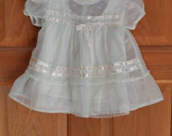 Vintage Mint Green Baby Dress