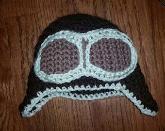Aviator hat- crocheted
