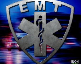 EMT Metal Sign