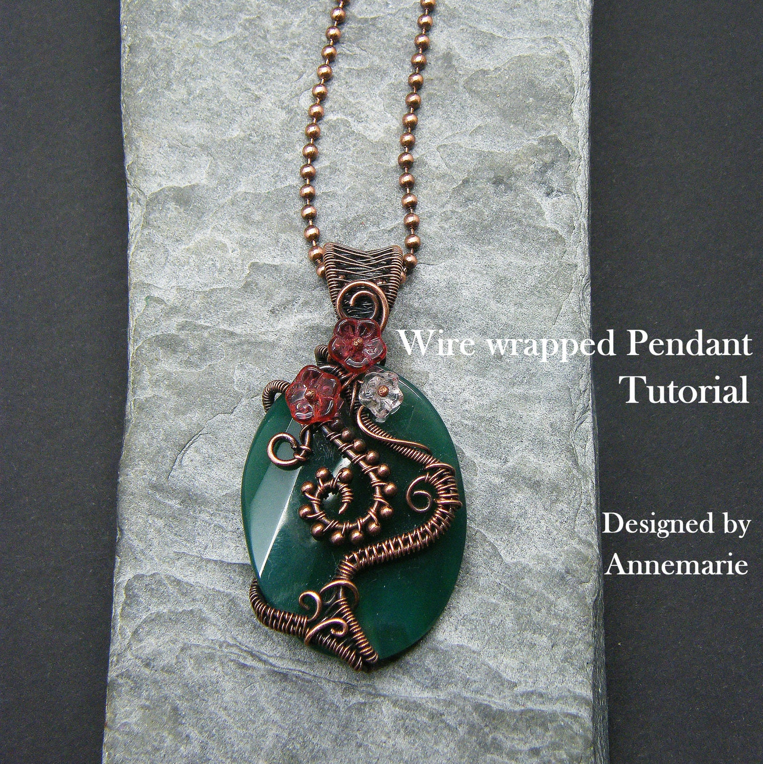 Wire Wrap Tutorial ~ Wire wrapped necklace tutorial ~ Wire ...