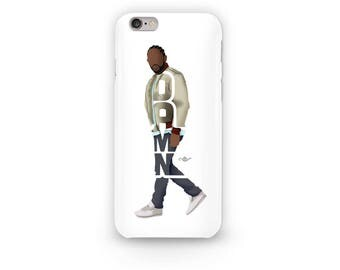 "Kendrick Lamar Phone Case Typography Design of Rapper With His Album named ""DAMN,"" iPhone Skin Case of Rapper for all iPhone Sizes PH01001"