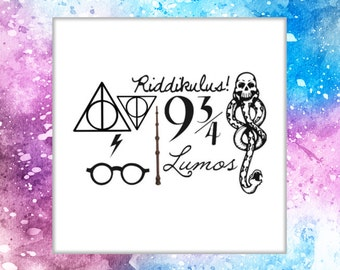Temporary Tattoo Dark Mark Tattoo Harry Potter Voldemort Tattoo Death Eaters tattoo fantasy arm tattoo Lumos Glasses Lightning bolt