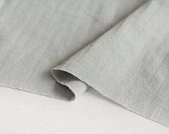 Gray Double Cotton Gauze Fabric by Yard