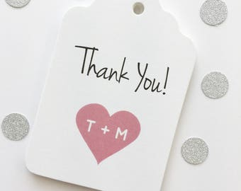 Thank You Favor Tags, Thank You Wedding Favor Tags, Thank You Hang Tags  (ST-103)