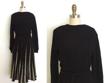 Vintage 1970s dress // 70s winter wool dress