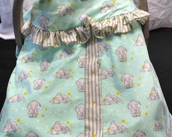 Green Dumbo Car Seat Cover