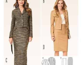 Burda Pattern 6582 Misses' Suit - Blazer - Pencil Skirt