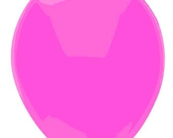 11 inch latex balloon- Neon Fuchsia