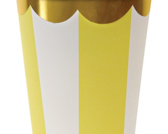 Toot Sweet Yellow Striped Party Cup