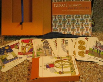 Tarot Wisdom Book and Card Pack with Indian Tote Bag