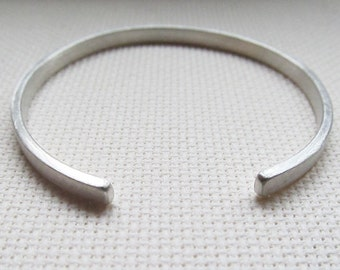 Satin Bangle - Sterling Silver