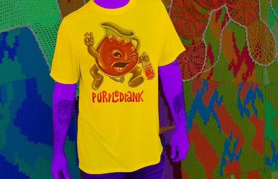 purple drank t-shirt kool-aid man sizzurp lean cough by ... Purple Kool Aid Man