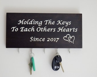 Holding The Keys To Each Others Hearts Key Holder - Makes A Great Wedding or Bridal Shower Gift