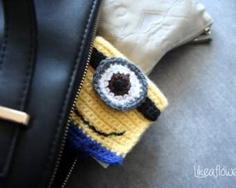 minion crochet houses post it