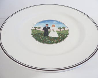 Vintage Villeroy & Boch Wedding Naif Small Cake Dessert Stand -