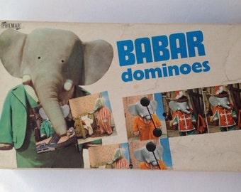 Vintage Barbar Dominoes Game. 1970 Philmar Games French TV Series Barbar the Elephant