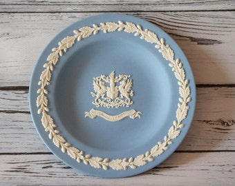 Wedgwood Blue Jasperware Round Plate / Dish - City of London