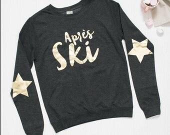 Aprés ski ladies metallic fitted jumper