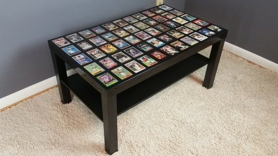 Mlb Baseball Team Coffee Table With High Gloss Epoxy Finish