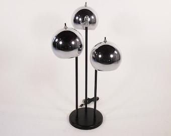 Mid Century Chrome Eyeball lamp