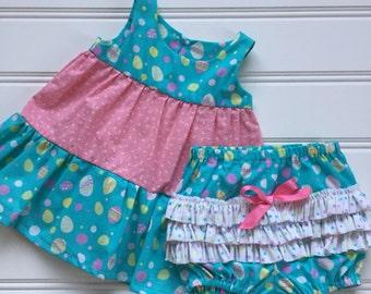 Baby Easter Dress, Girl Easter Dress, Toddler Easter Dress, Baby Girl Easter Outfit, Baby Girl Dress, Little Girl Dress, Medium 18-21 lbs