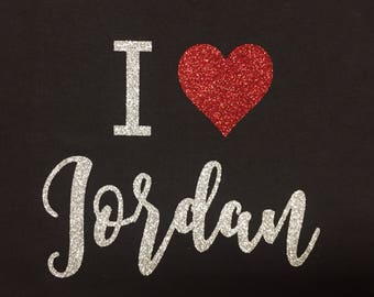 New Kids on the Block tee, I love Jordan, FREE Shipping, concert tee, NKOTB, concert shirt, I love New Kids, glitter concert tshirt