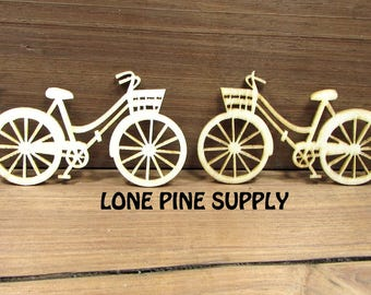 Bicycle Die-Cut. Embellishment for Scrapbooking, Card Making. Crafts. Wooden Lazer Cut Bicycles.