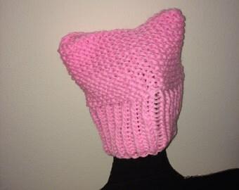 Pink Cat Ear Hat